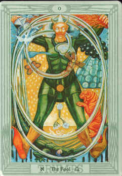 The Fool in the Thoth deck.