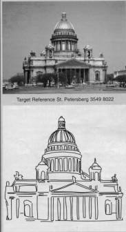"Remote viewing target - bulding in St. Petersburg - and another ""direct hit"" drawing"