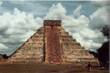 The Pyramid of Kukulcan (El Castillo) at Chichen Itza. Gods of the New Millennium. C. 1996. Alan F. Alford
