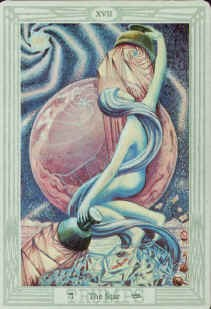 "In Court de Gebelin's Tarot deck, the Star was called ""The Dog Star""Kenneth Grant says the Star in the Thoth deck represents Sirius (the Dog Star)."